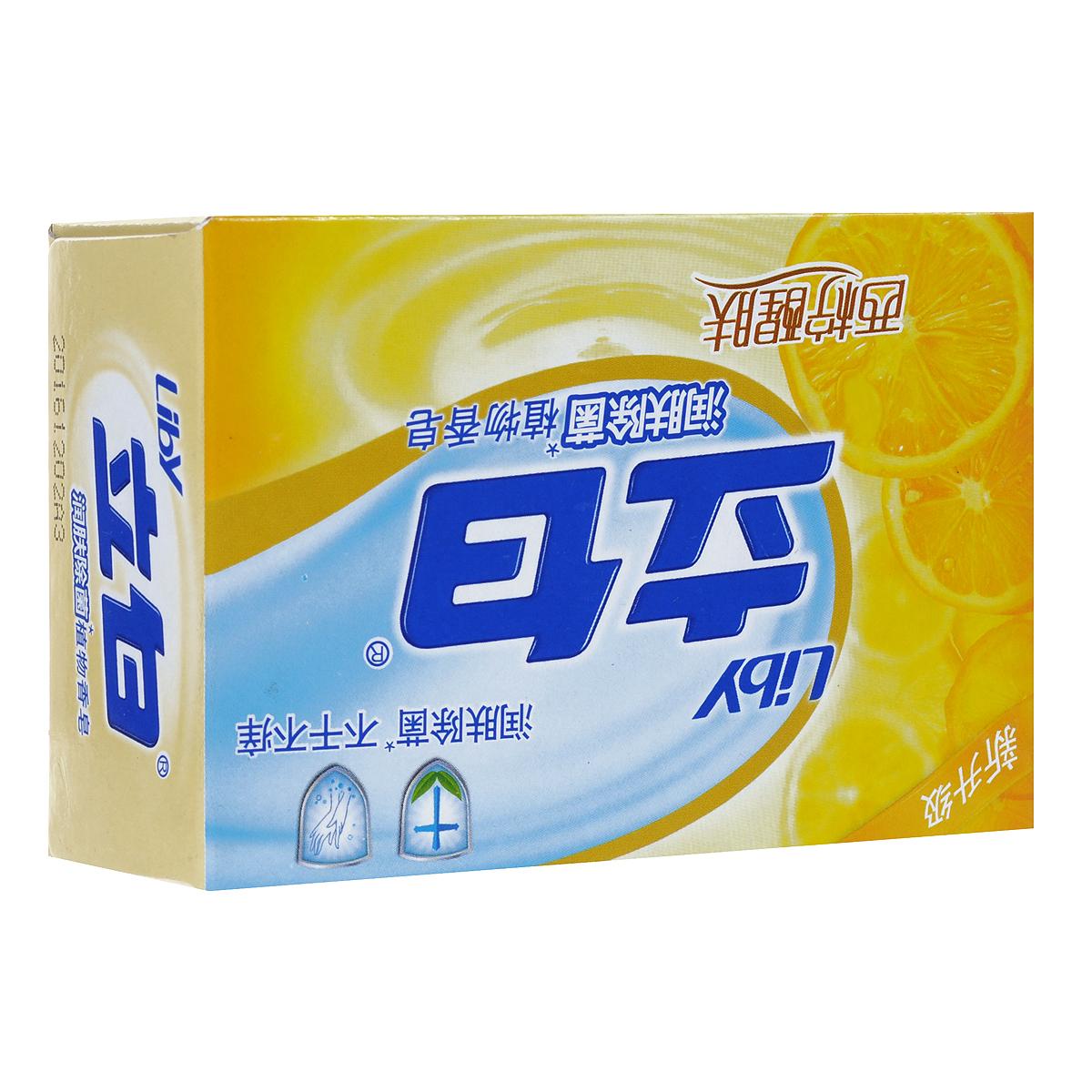 """Мыло туалетное Liby """"Лимон"""", антибактериальное, 100 г"""