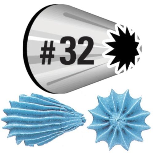Насадка для кондитерского мешка Wilton, на подвесе, №32WLT-418-32Насадка для кондитерского мешка Wilton изготовлена из металла. Она используется для украшения кондитерских изделий и крепится стандартным фиксатором насадок. С ее помощью можно сделать красивые розочки и ракушки. С этой насадкой готовить станет намного удобнее!
