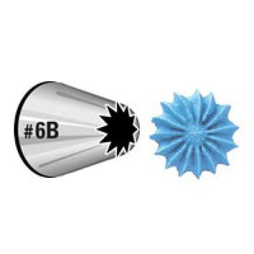 Насадка для кондитерского мешка Wilton Звезда, №6ВWLT-418-6600Насадка для кондитерского мешка Wilton Звезда изготовлена из металла. Используется для украшения тортов кремом. В зависимости от размера насадку использовать с или без фиксатора насадок. Насадку необходимо использовать с большим фиксатором насадок. Насадка вместе с кондитерским мешком поможет создать на выпечке удивительные рисунки кремом.