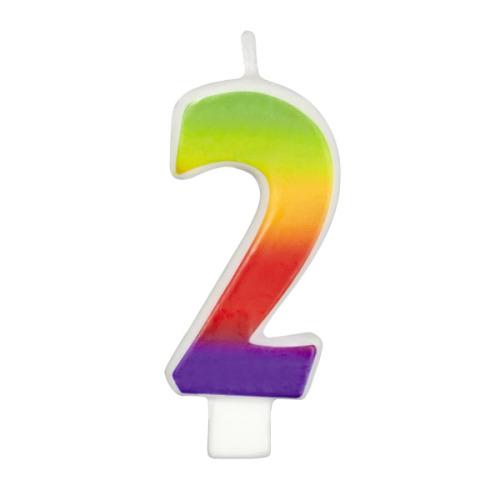 Свеча-цифра для торта Wilton  Цифра 2 , высота 7,6 см -  Свечи для торта