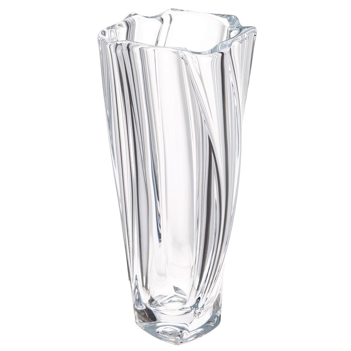 Ваза Crystalite Bohemia Нептун, высота 25,5 см8KG11/0/99S39/255Изящная ваза Crystalite Bohemia Нептун изготовлена из прочного утолщенного стекла кристалайт. Она красиво переливается и излучает приятный блеск. Ваза оснащена многогранной рельефной поверхностью и неровными краями, что делает ее изящным украшением интерьера. Ваза Crystalite Bohemia Нептун дополнит интерьер офиса или дома и станет желанным и стильным подарком.