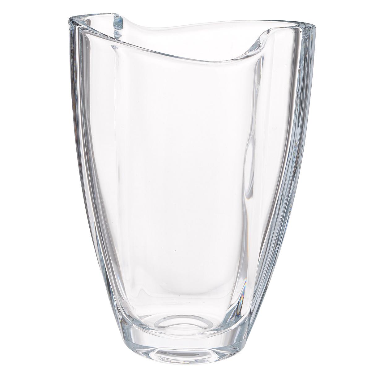 Ваза Crystalite Bohemia Смайл, высота 23 см8K007/0/99107/230Изящная ваза Crystalite Bohemia Смайл изготовлена из прочного утолщенного стекла кристалайт. Она красиво переливается и излучает приятный блеск. Ваза имеет оригинальную ассиметричную форму с плавными неровными краями, что делает ее изящным украшением интерьера. Ваза Crystalite Bohemia Смайл дополнит интерьер офиса или дома и станет желанным и стильным подарком.