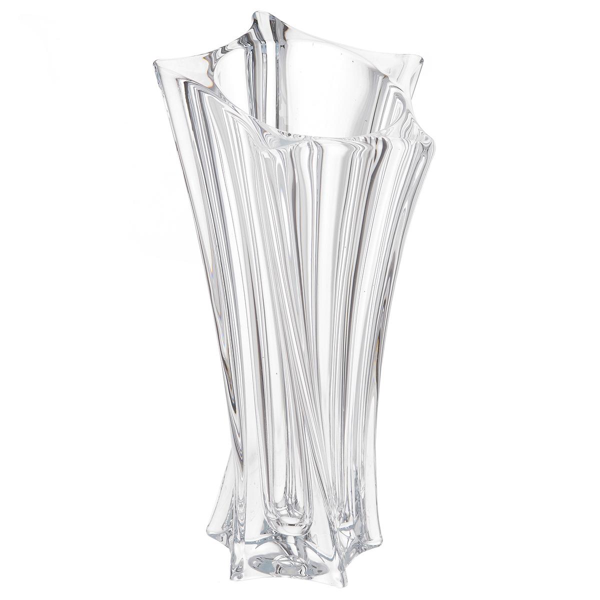 Ваза Crystalite Bohemia Йоко, высота 28 см8KF32/0/99P77/280Изящная ваза Crystalite Bohemia Йоко изготовлена из прочного утолщенного стекла кристалайт. Она красиво переливается и излучает приятный блеск. Верхнее и нижнее основания вазы выполнены в виде пятиконечных звезд, что делает ее оригинальным украшением интерьера. Ваза Crystalite Bohemia Йоко дополнит интерьер офиса или дома и станет желанным и стильным подарком.