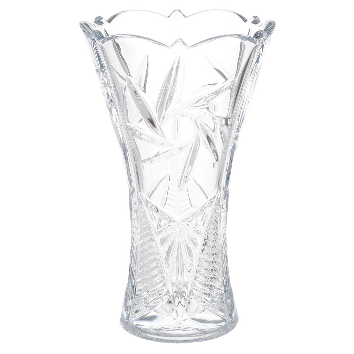 Ваза Crystalite Bohemia Тукана-Миранда, высота 25 см89001/0/99018/250Изящная ваза Crystalite Bohemia Тукана-Миранда изготовлена из прочного утолщенного стекла кристалайт. Она красиво переливается и излучает приятный блеск. Ваза оснащена оригинальным рельефным орнаментом и неровными краями, что делает ее изящным украшением интерьера. Ваза Crystalite Bohemia Тукана-Миранда дополнит интерьер офиса или дома и станет желанным и стильным подарком.