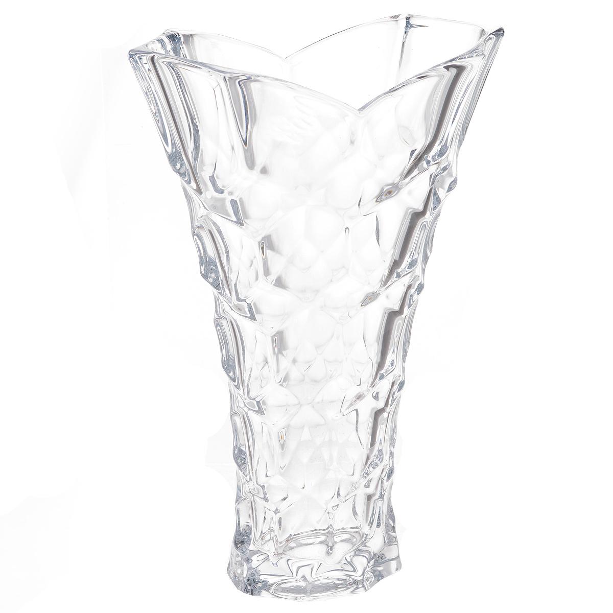Ваза Crystalite Bohemia Медовые соты, высота 35,5 см ваза 33 см quadro crystalite bohemia 8 марта женщинам