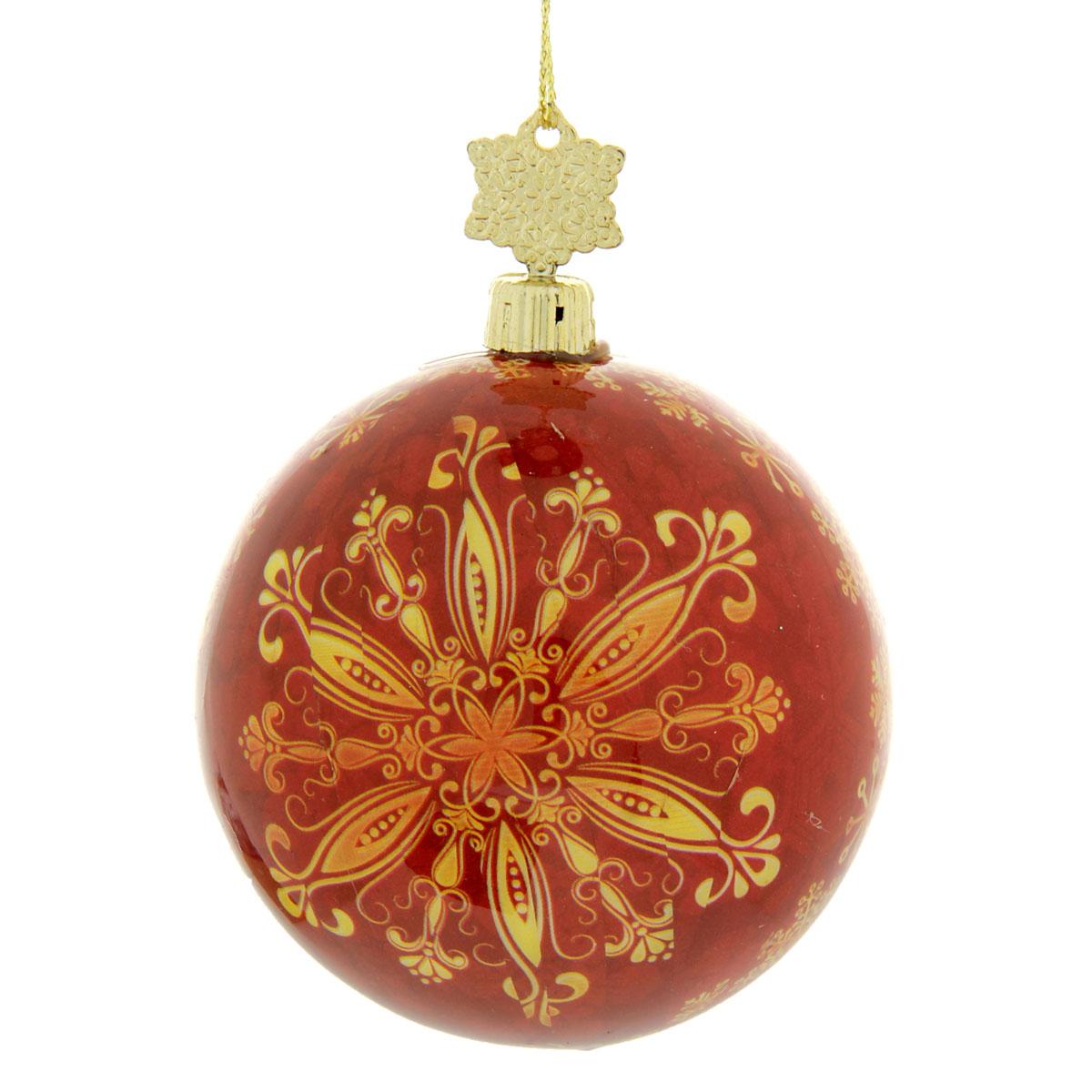 Новогоднее подвесное украшение Sima-land Шар, диаметр 8 см. 279339279339Новогоднее подвесное украшение Sima-land выполнено из высококачественного пенопласта в форме шара и покрыто цветной пленкой. Шар декорирован новогодним рисунком. С помощью специальной петельки украшение можно повесить в любом понравившемся вам месте. Но, конечно, удачнее всего такой набор будет смотреться на праздничной елке.Елочная игрушка - символ Нового года. Она несет в себе волшебство и красоту праздника. Создайте в своем доме атмосферу веселья и радости, украшая новогоднюю елку нарядными игрушками, которые будут из года в год накапливать теплоту воспоминаний. Материал: пенопласт, пленка, текстиль.