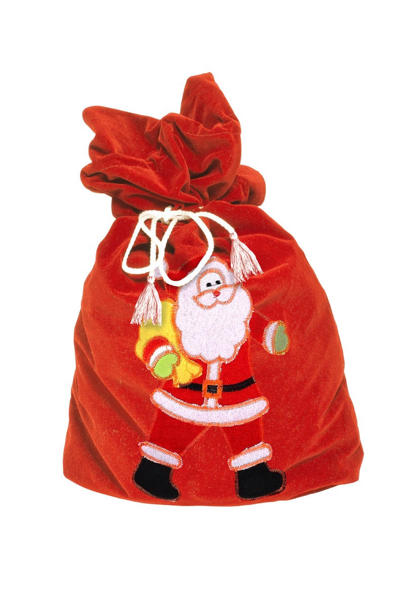 Карнавальный мешок Деда Мороза Sima-land  Поздравление , цвет: красный, 60 х 95 см. 328629 - Аксессуары для детского праздника