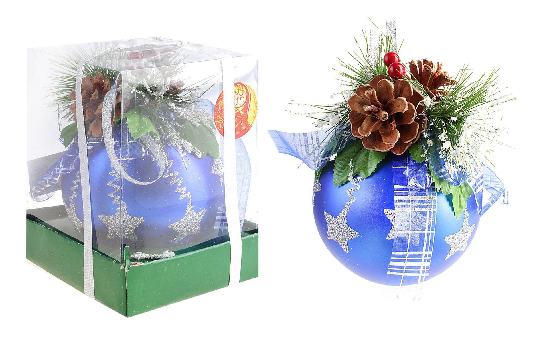 Новогодний декорированный шар Синие ленточки, диаметр 12 см. 542591542591Новогодний шар Синие ленточки, выполненный из пластика, украсит интерьер вашего дома или офиса в преддверии Нового года. Оригинальный дизайн и красочное исполнение создадут праздничное настроение. Новогодние украшения всегда несут в себе волшебство и красоту праздника. Создайте в своем доме атмосферу тепла, веселья и радости, украшая его всей семьей.