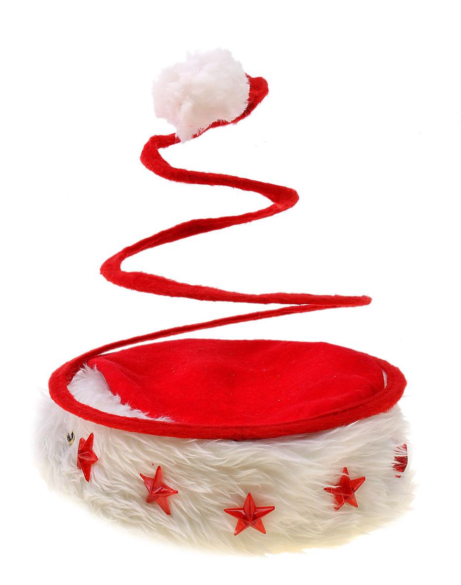 Колпак новогодний Sima-land, светящийся, цвет: красный. 703851 часы будильник sima land home цвет черный салатовый диаметр 20 см