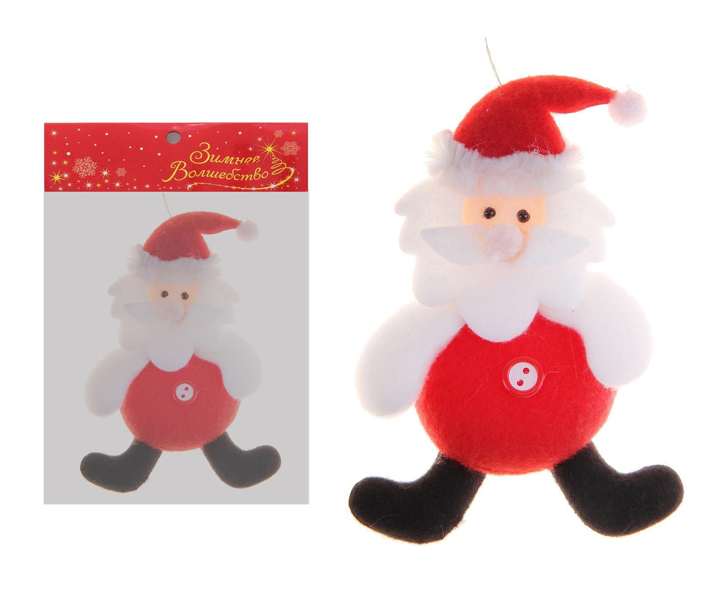 Новогоднее подвесное украшение Sima-land Дед Мороз. 718539 новогоднее подвесное украшение sima land дед мороз с елочкой цвет красный 16 х 10 см 718528