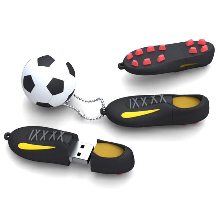 Iconik Футбол, Black 16GB USB-накопительRB-FTB-16GBIconik Футбол (Rubber) - это стильный и компактный USB-накопитель, который позволит вам значительно расширить свои возможности в области обмена данными. Высокая скорость, внушительный объем и надежность хранения информации позволяют использовать накопитель как временное, так и небольшое постоянное хранилище.