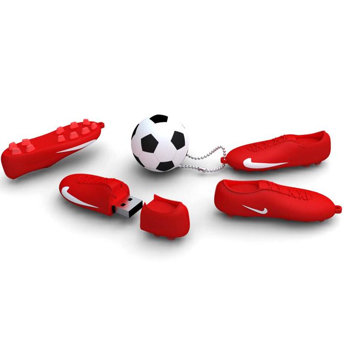 Iconik Футбол, Red White 32GB USB-накопитель - Носители информации