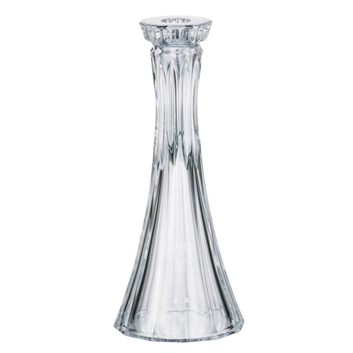 Подсвечник Crystalite Bohemia Веллингтон, высота 25,5 см9KF75/0/99S37/255Изящный подсвечник Crystalite Bohemia Веллингтон изготовлен из прочного утолщенного стекла кристалайт. Он красиво переливается и излучает приятный блеск. Подсвечник оснащен рельефной, многогранной поверхностью. Оригинальный дизайн и необычайная красота сделают этот подсвечник замечательным украшением интерьера комнаты, которое создаст романтическую атмосферу. Подсвечник Crystalite Bohemia Веллингтон дополнит интерьер офиса или дома и станет желанным и стильным подарком. Материал: стекло. Диаметр подсвечника (по верхнему краю): 5,5 см. Диаметр подсвечника (по нижнему краю): 11 см.Диаметр отверстия для свечи: 2,4 см.