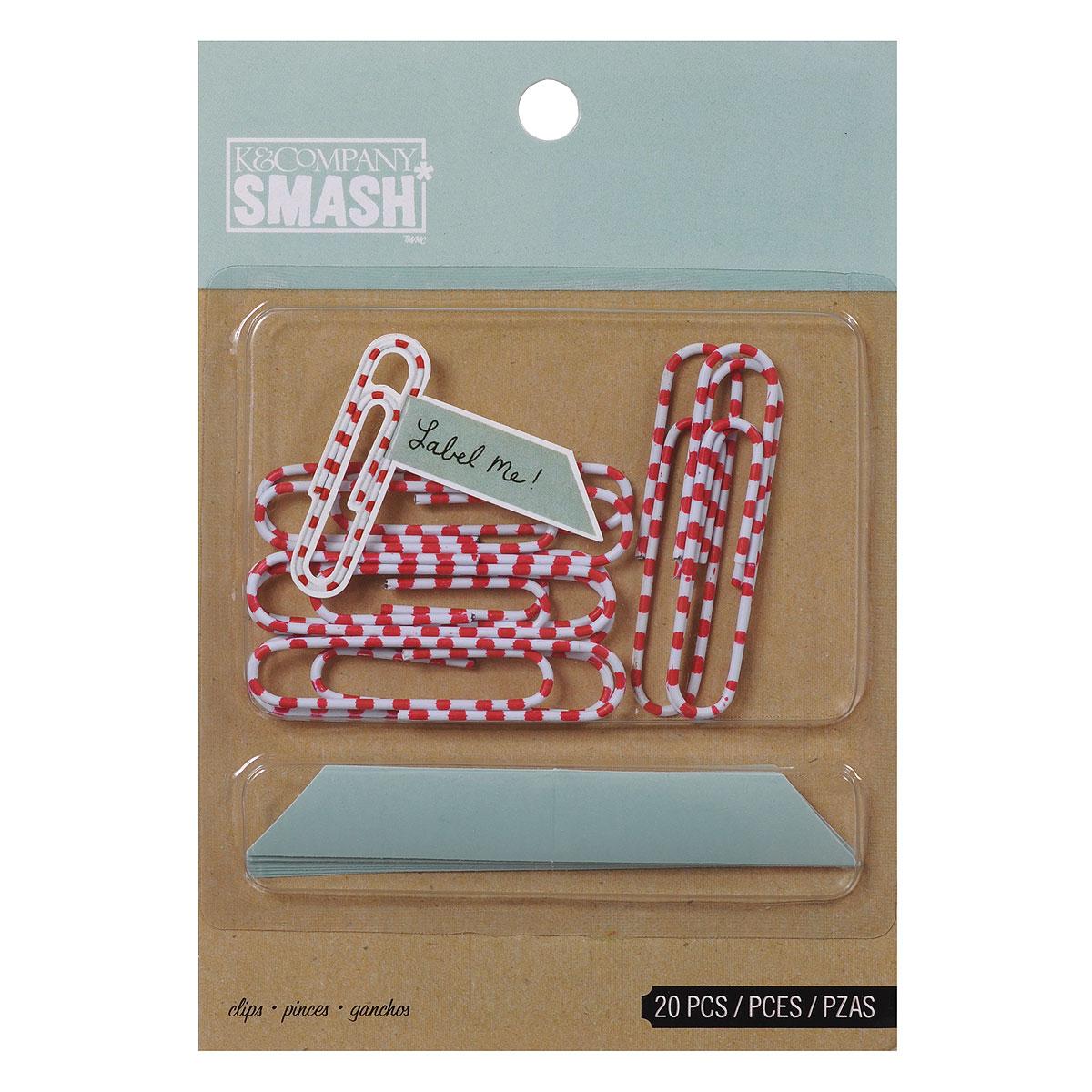 Скрепки-украшения K&Company  Smash , 20 шт -  Скрепки, кнопки, зажимы