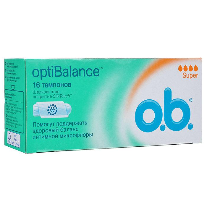 O.B. Тампоны OptiBalance Super, 16 шт70304Тампоны O.B. OptiBalance Super объединяют технологию спиралевидных желобков и покрытие SilkTouch для дополнительного комфорта и надежной защиты. Компонент натурального происхождения GML (Glycerol Monolaurate) помогает поддержать необходимый уровень собственных полезных бактерий (лактобактерий), способствуя сохранению естественного баланса интимной микрофлоры;Тампоны обеспечивают легкое введение и извлечение благодаря уникальному покрытию SilkTouch;Технология спиралевидных желобков FluidLock для более эффективного направления жидкости внутрь тампона. Подходят для средних или интенсивных выделений. Товар сертифицирован.