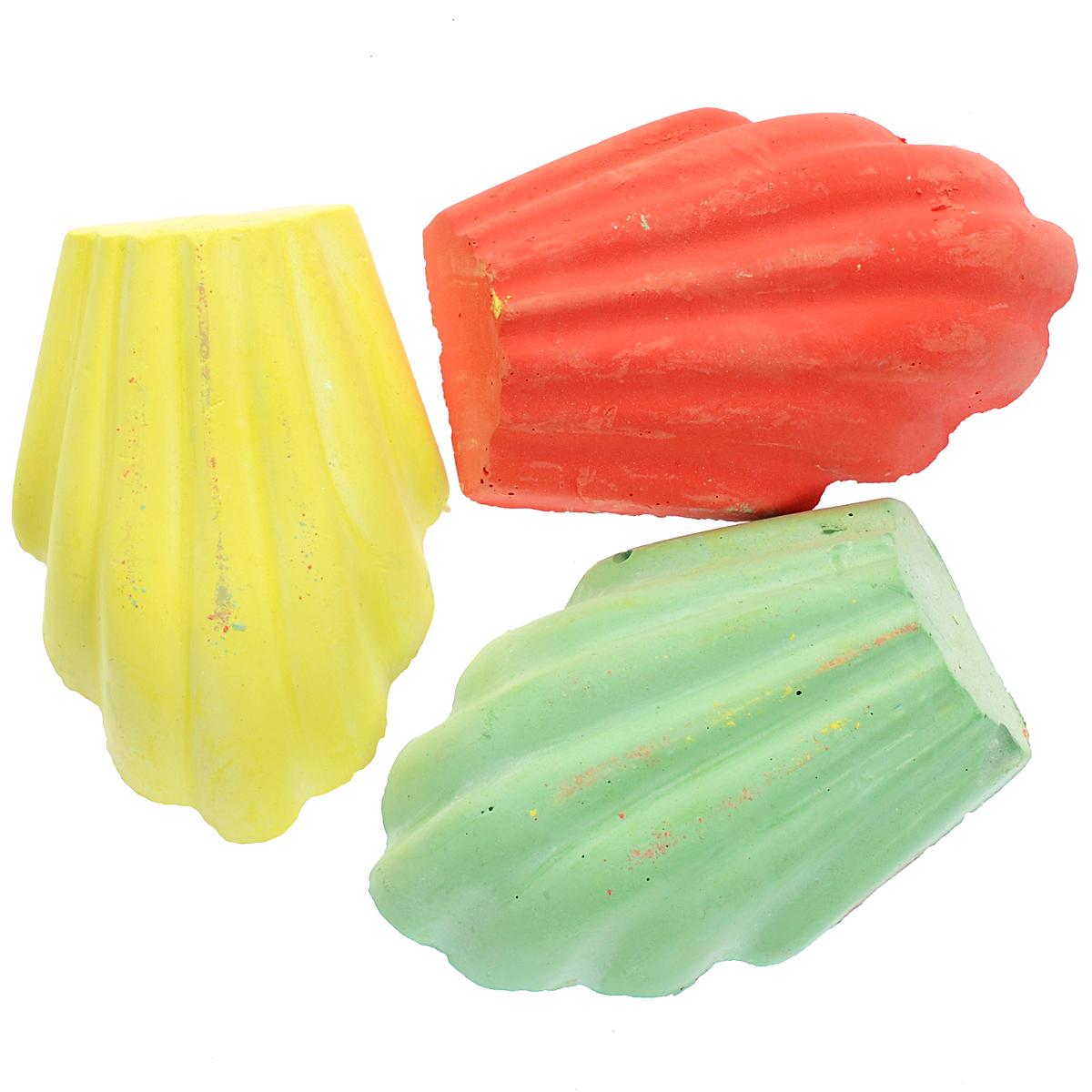 """Мелки цветные Fancy """"Ракушки"""", фигурные, цвет: желтый, зеленый, красный, Action!"""