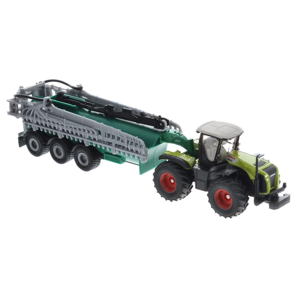 Siku Трактор Claas Xerion с вакуумным баком Samson машины tomy john deere трактор monster treads с большими колесами и вибрацией