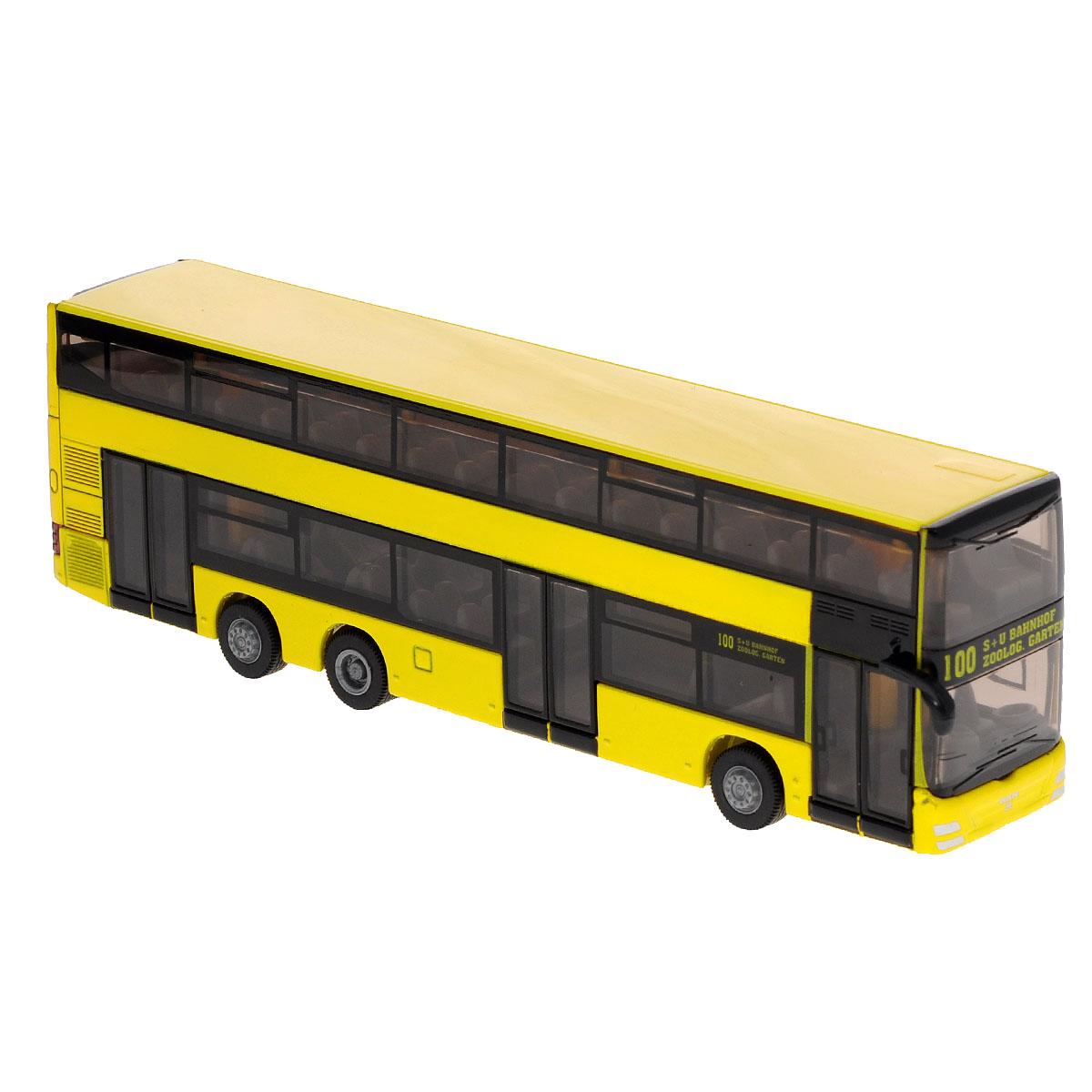 Siku Городской двухэтажный автобус MAN металлическая модель siku прицеп кузов 1965