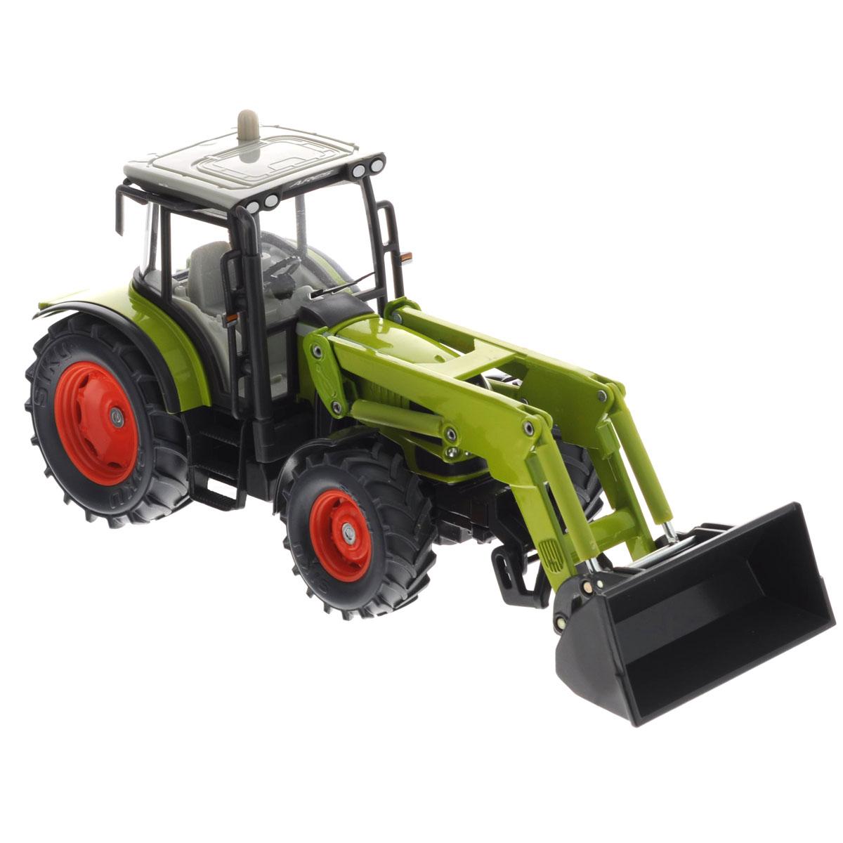 Siku Трактор с фронтальным погрузчиком Claas Ares siku трактор claas xerion 5000