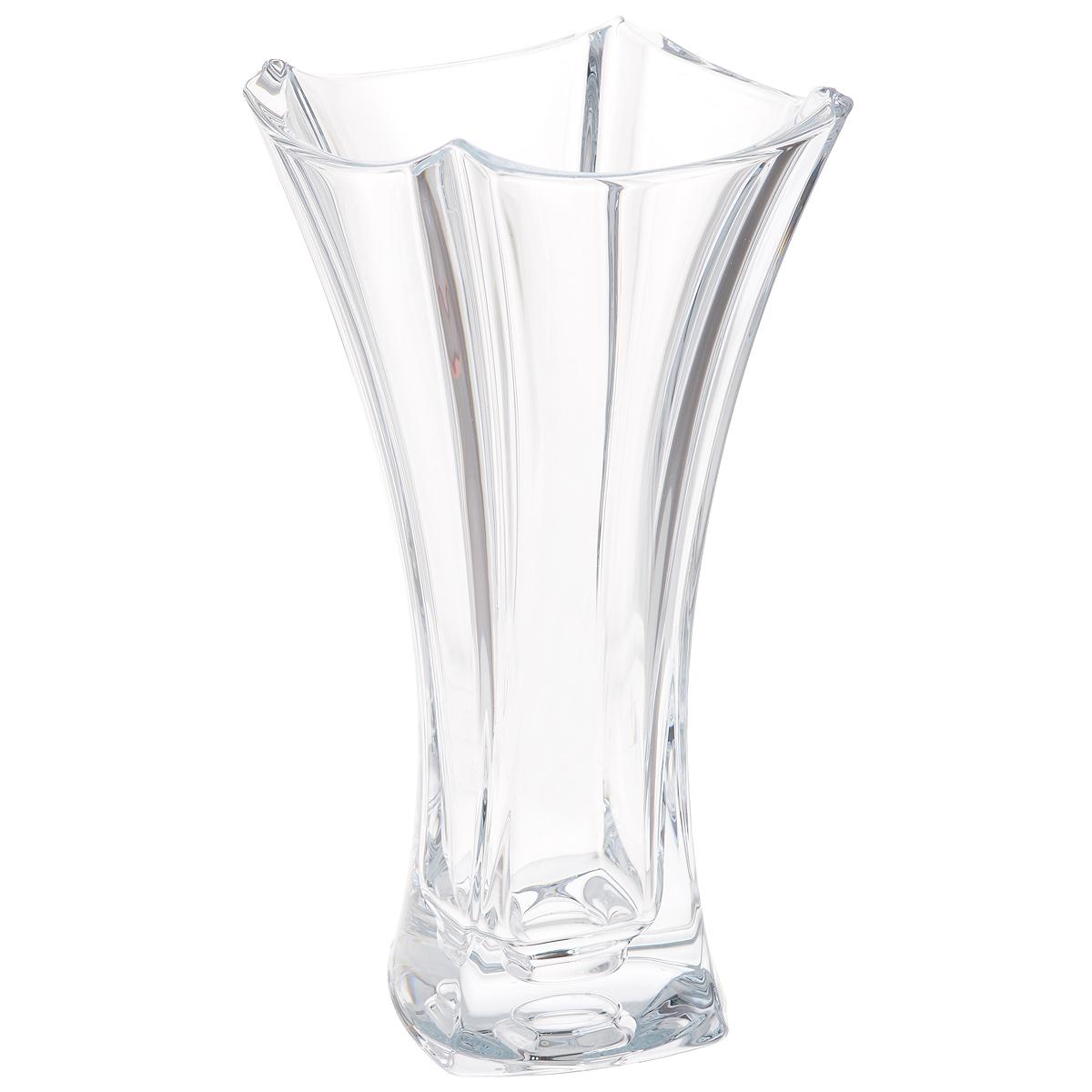 Ваза Crystalite Bohemia Колосеум, высота 30 см8KF78/0/99R14/305Изящная ваза Crystalite Bohemia Колосеум изготовлена из прочного утолщенного стекла кристалайт. Она красиво переливается и излучает приятный блеск. Ваза оснащена рельефной поверхностью и неровными краями, что делает ее изящным украшением интерьера. Ваза Crystalite Bohemia Колосеум дополнит интерьер офиса или дома и станет желанным и стильным подарком.