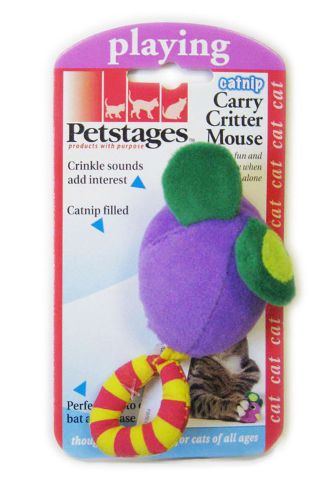 Игрушка для кошек Petstages Мышка игрушка для животных каскад барабан с колокольчиком 4 х 4 х 4 см