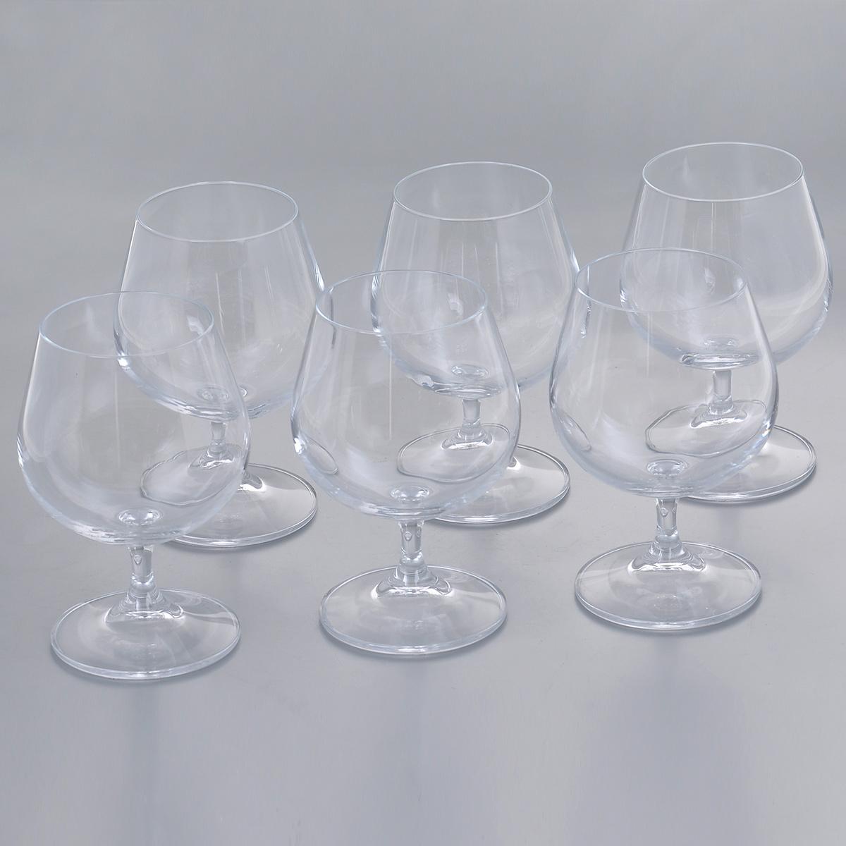Набор бокалов для бренди Crystalite Bohemia Клара, 400 мл, 6 шт набор бокалов для бренди 6 шт crystalite bohemia набор бокалов для бренди 6 шт