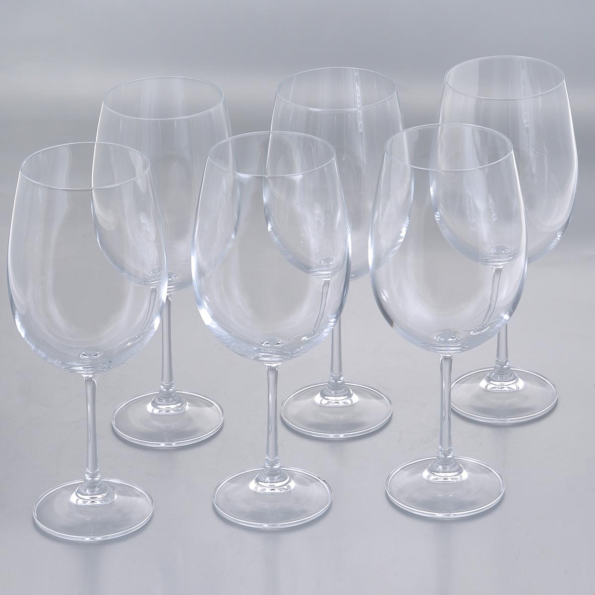 Набор бокалов для красного вина Crystalite Bohemia Барбара, 640 мл, 6 шт1SD22/640Набор Crystalite Bohemia Барбара состоит из шести бокалов, выполненных из прочного высококачественного прозрачного стекла. Изделия оснащены изящными высокими ножками. Бокалы предназначены для подачи красного вина. Они излучают приятный блеск и издают мелодичный звон. Бокалы сочетают в себе элегантный дизайн и функциональность. Благодаря такому набору пить напитки будет еще вкуснее.Набор бокалов Crystalite Bohemia Барбара прекрасно оформит праздничный стол и создаст приятную атмосферу за романтическим ужином. Такой набор также станет хорошим подарком к любому случаю. Не использовать в посудомоечной машине и микроволновой печи.