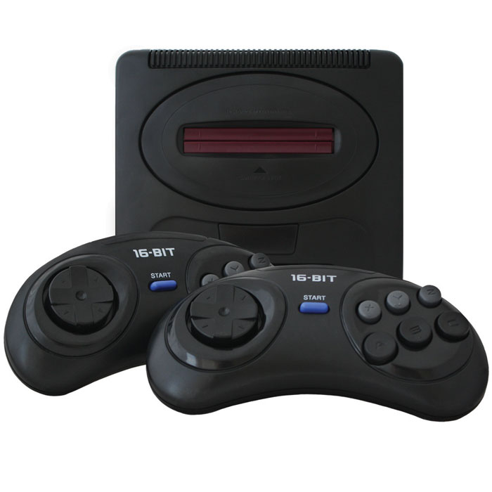 Игровая приставка MegaDrive 2 + 75 игрVG-1644Mega Drive 2 - классическая 16 битная игровая приставка, ставшая хитом продаж более 10 лет назад по всему миру и пользующаяся огромной популярностью в наше время!Приставка обеспечивает качество игр на уровне аркадных игровых автоматов. Особую популярность приставка обрела из-за культового персонажа Соника и стремительных игр с его участием. В продаже можно без проблем найти практически все известные игры с такими популярными героями как Соник, Микки Маус, Черепашки Ниндзя, Том и Джерри, Червяк Джим, персонажами из вселенной Mortal Kombat. Классическая 16-битная приставка в оригинальном форм факторе, со встроенными играми.