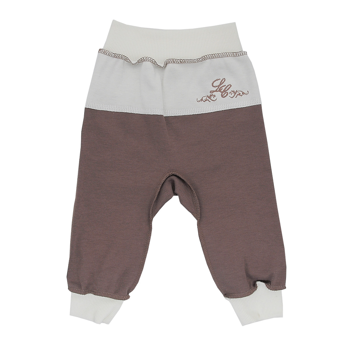 Брюки для мальчика Lucky Child, цвет: кофейный. 20-11. Размер 86/9220-11Стильные брюки для мальчика Lucky Child станут прекрасным дополнением к гардеробу вашего малыша. Изготовленные из натурального хлопка, они необычайно мягкие и приятные на ощупь, не сковывают движения ребенка и позволяют коже дышать, не раздражают даже самую нежную и чувствительную кожу ребенка, обеспечивая ему наибольший комфорт. Брюки выполнены швами наружу, на талии имеют широкую эластичную резинку, благодаря чему они не сдавливают животик ребенка и не сползают. Снизу брючины дополнены широкими трикотажными манжетами. Спереди брюки дополнены контрастной вставкой, оформленной вышивкой.В таких брюках ваш ребенок будет чувствовать себя уютно и комфортно и всегда будет в центре внимания!