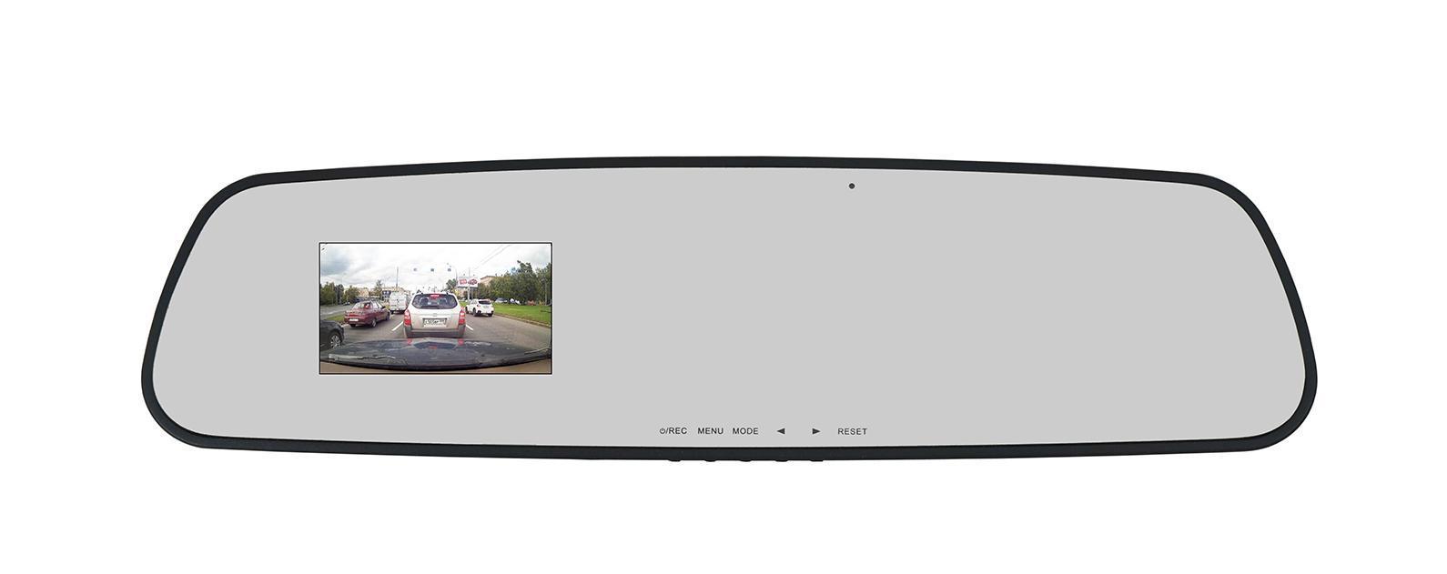 TrendVision TV-103 видеорегистраторTV-103TrendVision TV-103, автомобильный видеорегистратор, размещенный в корпусе зеркала заднего вида. Видеорегистратор устанавливается с помощью резиновых держателей на штатное зеркало заднего вида. Не мешает обзору, незаметен. Нет необходимости снимать и ставить. Камера регулируется по вертикали и горизонтали. Встроенный широкоформатный монитор 2.7 позволяет сориентировать видеокамеру и просмотреть видеозапись. Монитор автоматически отключается через заданное в меню время.G-сенсор (датчик удара) и тревожная кнопка позволяют защитить файлы от перезаписи. В случае необходимости, можно отключить запись звука нажатием на кнопку. Раздельная автоматическая дневная и ночная экспозиция.Видеорегистратор TrendVision TV-103 в корпусе зеркала заднего вида оснащен мощным процессором Ambarella и новой чувствительной матрицей (CMOS сенсор) OmniVision OV2710. Применение новой матрицы позволило обеспечить высокое качество записи даже в условиях недостаточной освещенности. FullHD качество 1920х1080 30 к/с.Реально широкий угол обзора позволяет фиксировать несколько полос движения в непосредственной близости от автомобиля.Видеорегистратор имеет встроенную аккумуляторную батарею и позволяет производить видеозапись без внешнего питания в течении 15-20 минут. Кроме того, установлена дополнительная часовая батарея. Можно не беспокоиться о сбросе даты и времени. На монитор видеорегистратора выводятся все основные данные: наложение даты и времени на запись, режим записи, длительность записанного ролика, параметры экспозиции, состояние микрофона и питания. Меню очень понятное и крупное.TV-103 имеет внутреннюю память 512Мб. При необходимости можно сделать копию любого ролика длительностью до 7 минут в максимальном разрешении. Так называемая копия для протокола. Для этого достаточно скопировать лолик во внутреннюю память. Затем установить новую карту памяти и скопировать ролик на нее.Дополнительно к TV-103 можно подключить выносной блок приемника GPS. Он уста
