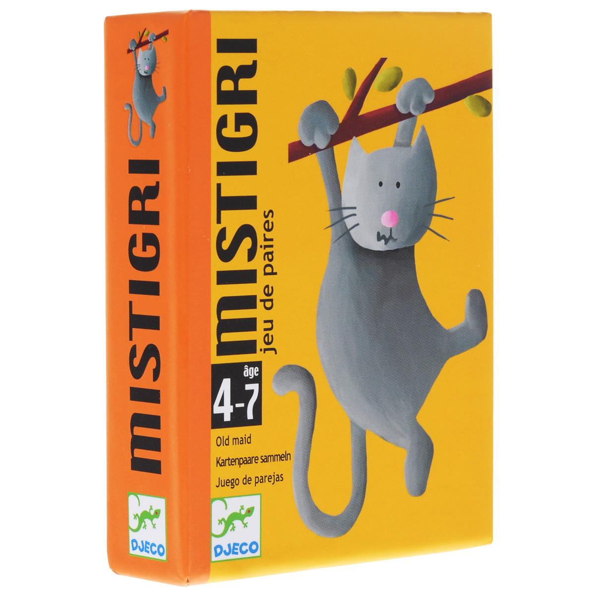 Djeco Обучающая игра Мистигри игра тактильное лото животные djeco