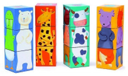 кубики Кубики Djeco Животные