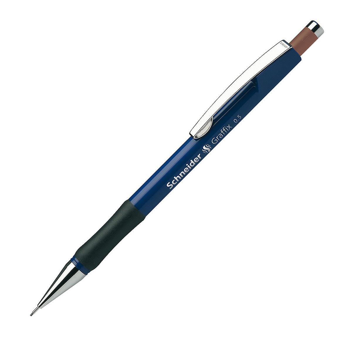 Механический карандаш GRAFIX (0,5 мм) корпус синего цвета.S1561/3 S1561-01/3