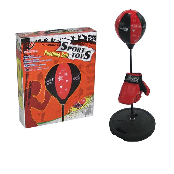 Стойка боксерская детская Sport Toys, с перчатками. TX43201329254Стойка боксерская Sport Toys, изготовленная из стали, полиэстера и ПВХ,предназначена для отработки силы, жесткости и точности ударов. Этоспортивный боксерский набор для начинающих маленьких спортсменов. С такимнабором занятия спортом становятся не только полезными, но и интересными. Спомощью такого набора мальчик будет развивать силу, координацию движений,ловкость исноровку. Груша устанавливается на специальную стойку, которую нужноутяжелить черезспециальное отверстие песком или водой. Сама груша накачивается насосом,которыйвходит в комплект. В комплекте также поставляется пара боксерских перчаток ссинтетическим наполнителем. Комплектация: - боксерская груша на подставке, - перчатки: 1 пара, - насос.