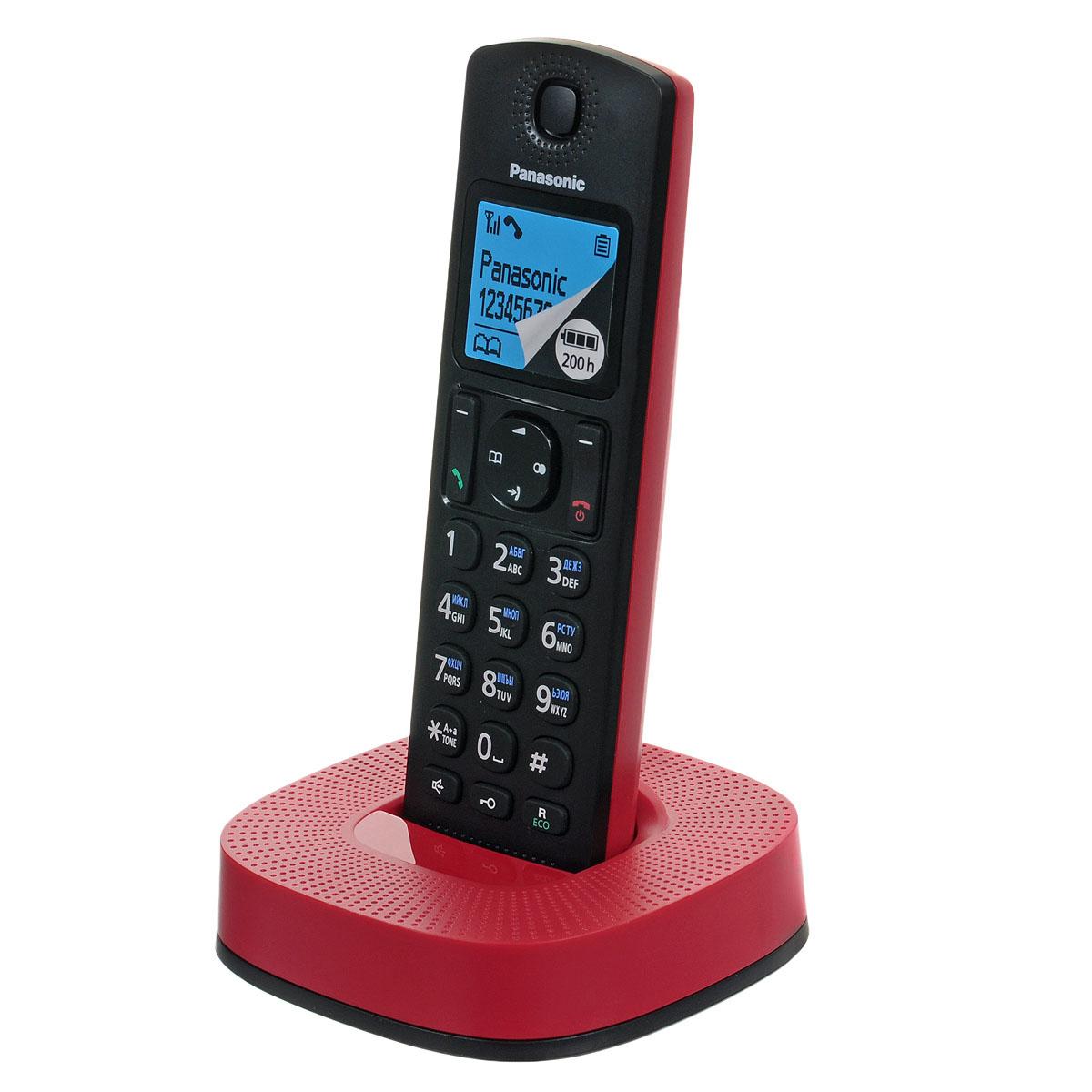 Panasonic KX-TGC310RUR, Black Red DECT телефонKX-TGC310RURPanasonic KX-TGC310RU - компактный и стильный DECT-телефон, который впишется в любой интерьер. Сведите кминимуму количество нежелательных звонков. Вы можете заблокировать любой выбранный номер, а также любыепоследовательности чисел (от 2 до 8 цифр), совпадающие с номерами, внесенными в черный список. С помощьюспециальной кнопки блокировки клавиш вы можете избежать случайных вызовов и нежелательных измененийнастроек, поэтому телефон можно с удобством носить в кармане. Питание устройства осуществляется отаккумуляторов типа Ni-MH (в комплекте). Функция быстрого набора - есть