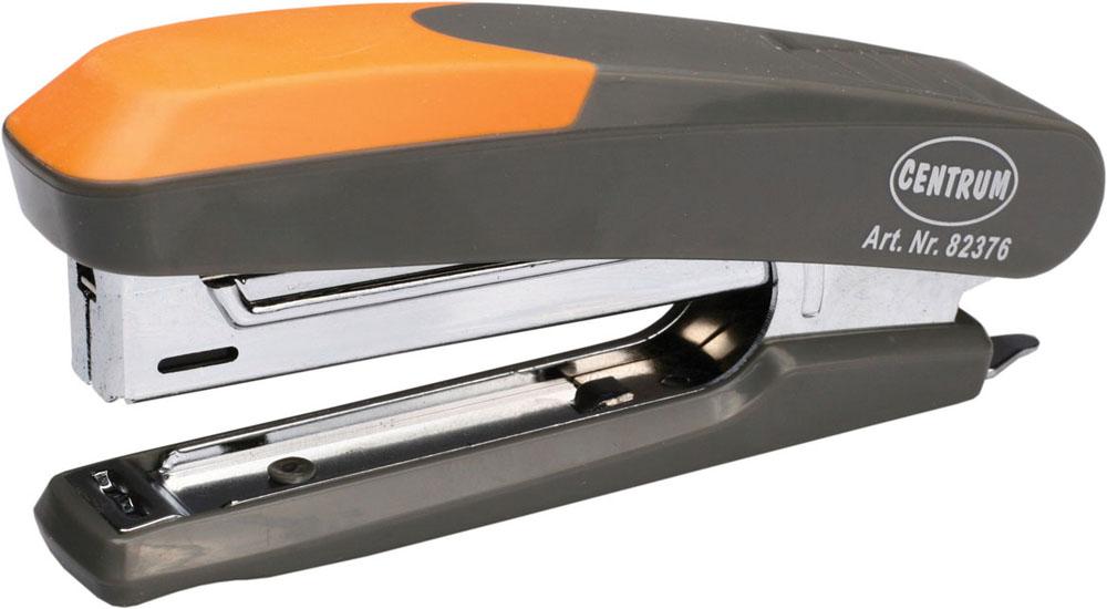 Centrum Степлер Ergonomic Line для скоб №1082376Удобный и практичный степлер Centrum - незаменимый офисный инструмент. Он выполнен из пластика с металлическим механизмом. Степлеру подходят скобы № 10; он способен прошить до 12 листов бумаги.Степлер Centrum гарантирует стабильную и качественную работу в течение долгого времени.