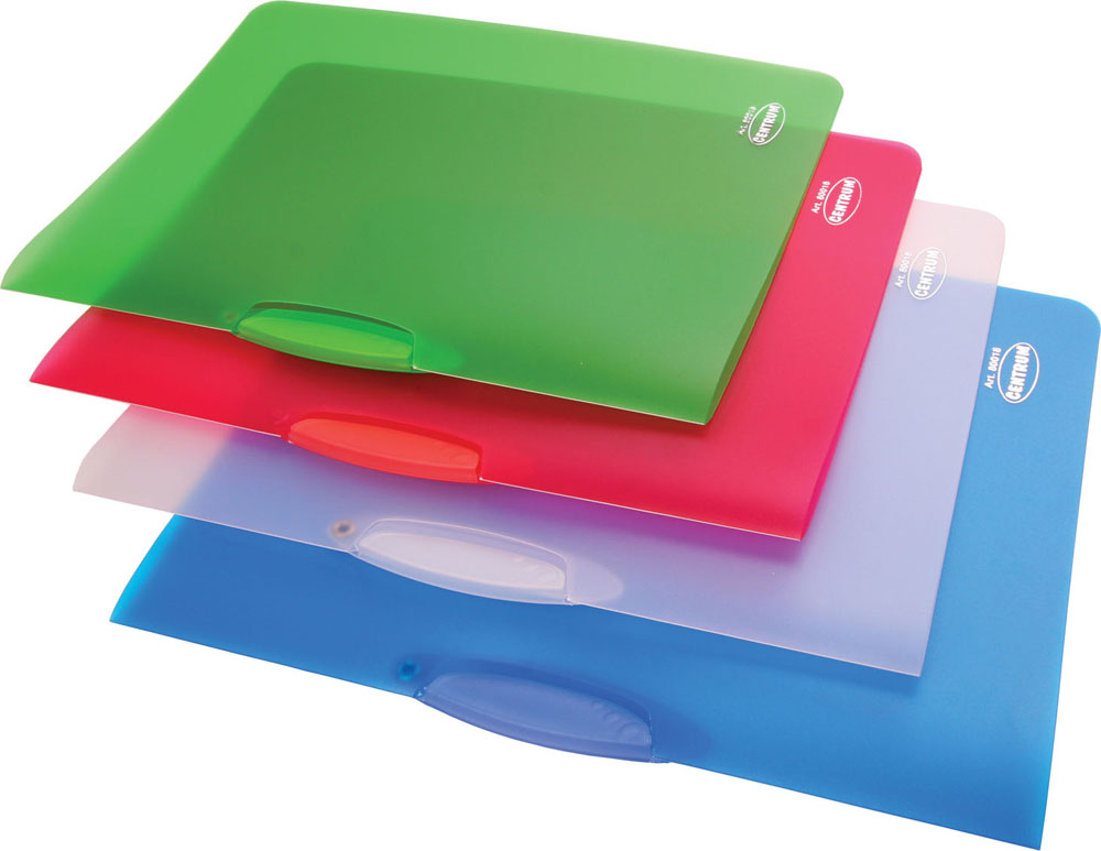 Папка с клипом Centrum, прозрачная, цвет: синий. Формат А4, 4 шт80018ОПапка с клипом Centrum - это удобный и практичный офисный инструмент, предназначенный для хранения и транспортировки неперфорированных рабочих бумаг и документов формата А4.Папка изготовлена из прочного прозрачного пластика толщиной 0,45 мм и оснащена боковым поворотным клипом, позволяющим фиксировать неперфорированные листы. В комплект входят 4 папки зеленого, голубого, белого и малинового цветов. Папка - это незаменимый атрибут для студента, школьника, офисного работника. Такая папка практична в использовании и надежно сохранит ваши документы и сбережет их от повреждений, пыли и влаги.