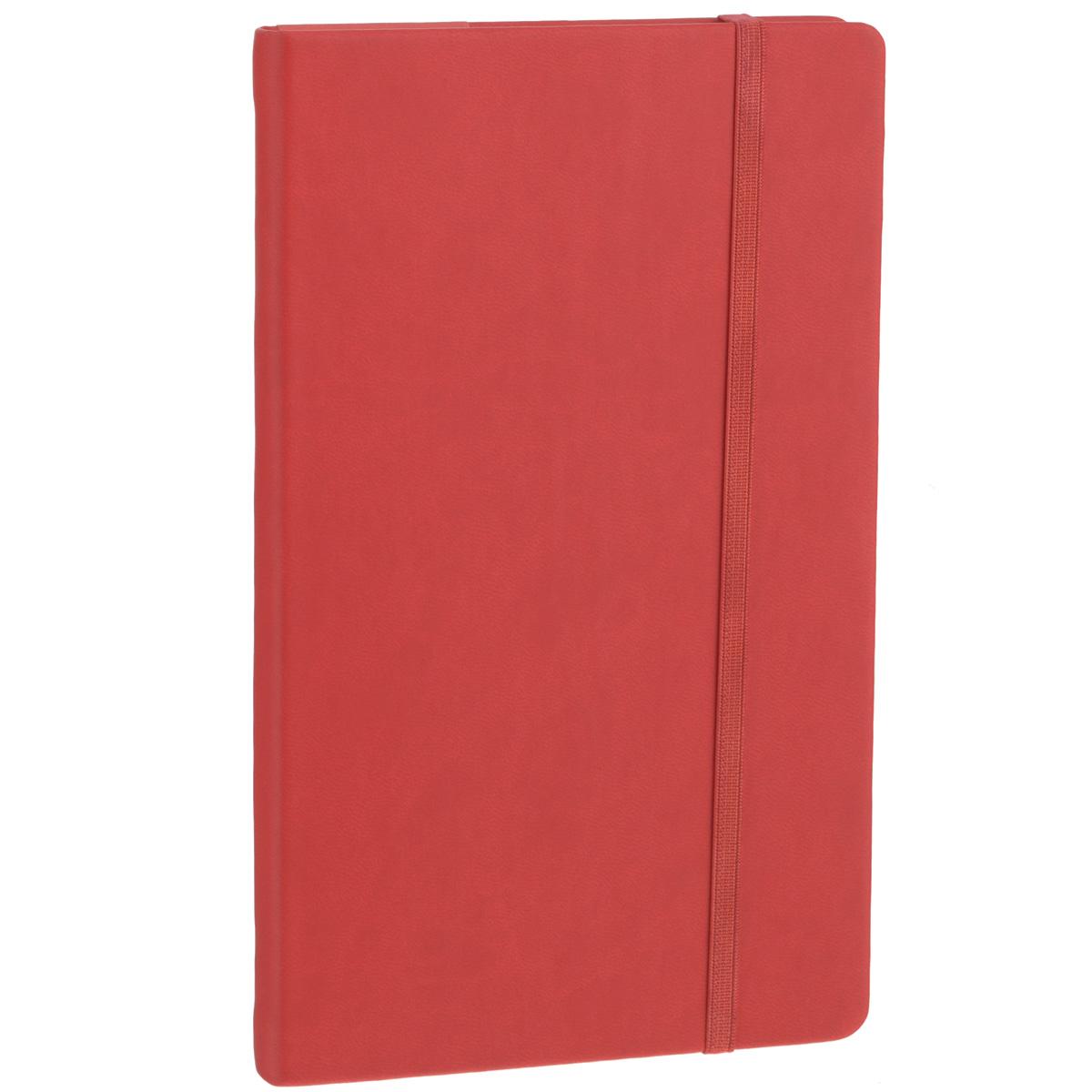 Записная книжка Erich Krause Festival, цвет: красный, 96 листов1705057Записная книжка Erich Krause Festival - это дополнительный штрих к вашему имиджу. Демократичная в своем содержании, книжка может быть использована не только для личных пометок и записей, но и как недатированный ежедневник. Надежная твердая обложка из плотного приятного на ощупь картона сохранит ее в аккуратном состоянии на протяжении всего времени использования. Плотная в линейку бумага белого цвета, закладка-ляссе, практичные скругленные углы, эластичная петелька для ручки и внутренний бумажный карман на задней обложке - все это обеспечит вам истинное удовольствие от письма. В начале книжки имеется страничка для заполнения личных данных владельца, четыре страницы для заполнения адресов, телефонов и интернет-почты и четыре страницы для заполнения сайтов и ссылок. Благодаря небольшому формату книжку легко взять с собой. Записная книжка плотно закрывается при помощи фиксирующей резинки.