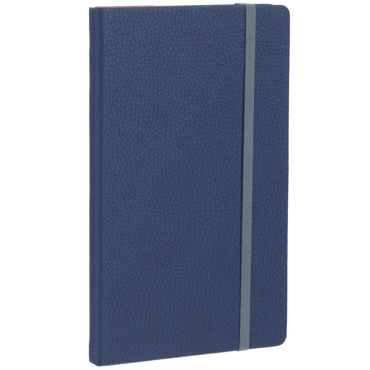 Записная книжка Erich Krause Armonia, цвет: темно-синий, 96 листов36760Записная книжка Erich Krause Armonia - это дополнительный штрих к вашему имиджу. Демократичная в своем содержании, книжка может быть использована не только для личных пометок и записей, но и как недатированный ежедневник. Надежная твердая обложка из плотного картона, обтянутого искусственной крупнофактурной кожей, сохранит ее в аккуратном состоянии на протяжении всего времени использования. Плотная в линейку бумага белого цвета, закладка-ляссе, практичные скругленные углы, эластичная петелька для ручки и внутренний бумажный карман на задней обложке - все это обеспечит вам истинное удовольствие от письма. В начале книжки имеется страничка для заполнения личных данных владельца, четыре страницы для заполнения адресов, телефонов и интернет-почты и четыре страницы для заполнения сайтов и ссылок. Благодаря небольшому формату книжку легко взять с собой. Записная книжка плотно закрывается при помощи фиксирующей резинки.