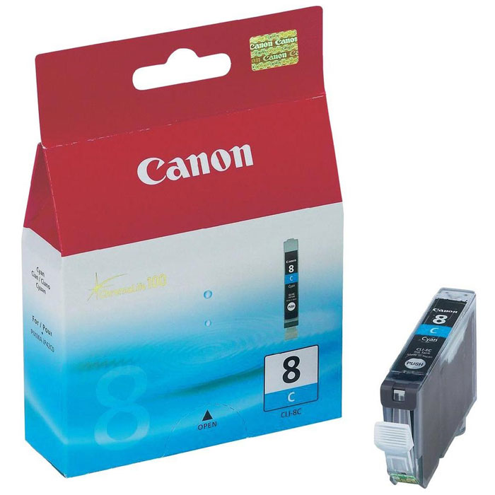 Canon CLI-8, Cyan картридж для струйных МФУ/принтеров картридж canon cli 42lgy для pro 100 серый 835 фотографий