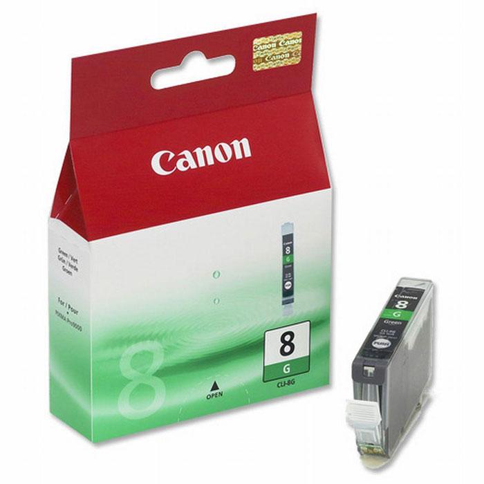 Canon CLI-8, Green картридж для струйных фотопринтеров0627B001Сменный картридж с чернилами Canon CLI-8 Photo для струйных фотопринтеров Canon PIXMA.Тип чернил: водорастворимые