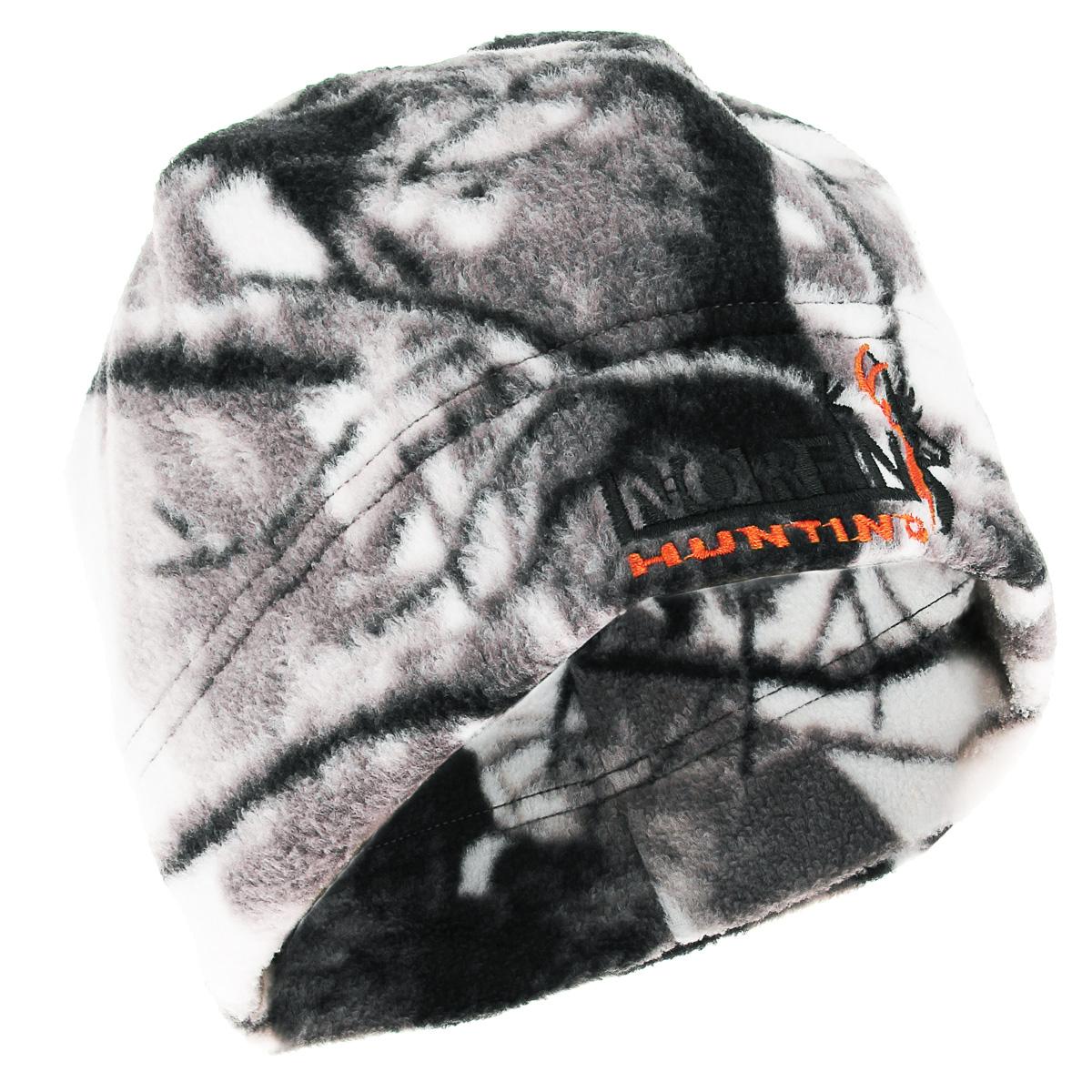 Шапка мужская Norfin, цвет: зимний лес. 751. Размер XL (60/61)751-WТеплая шапка Norfin - отличная модель для холодной погоды. Это стильная и износостойкая шапка выполнена из флиса и оформлена вышитым логотипом бренда.