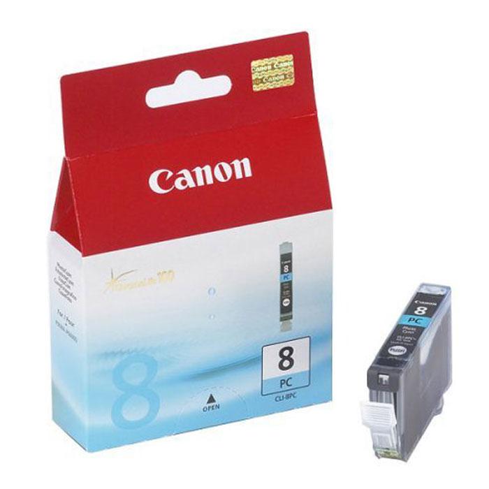 Canon CLI-8 PC, Photo Cyan картридж для струйных фотопринтеров0624B001Сменный картридж с чернилами Canon CLI-8 Photo для струйных фотопринтеров Canon PIXMA. Тип чернил: водорастворимые