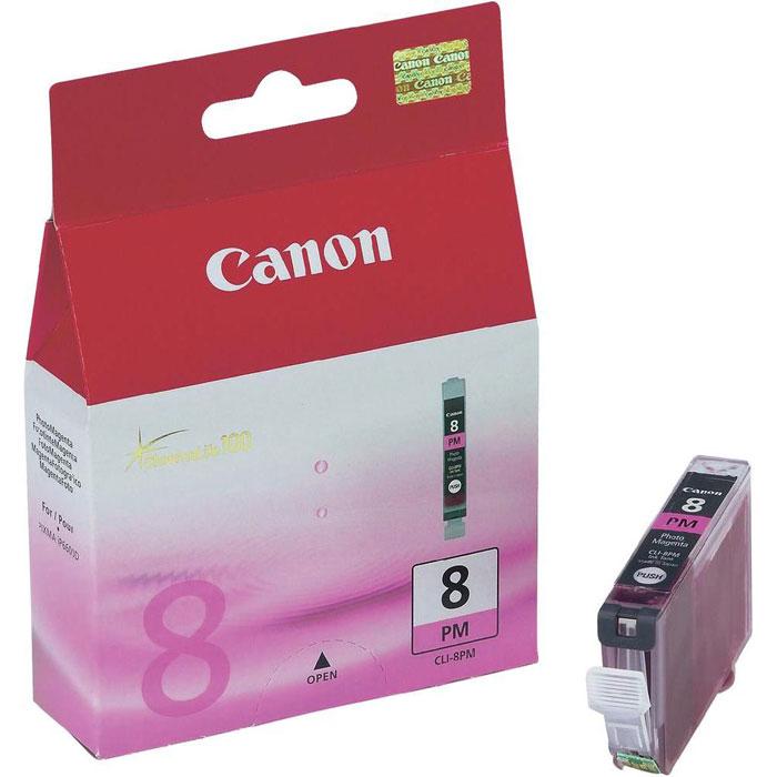 Canon CLI-8 PM, Photo Magenta картридж для струйных фотопринтеров0625B001Сменный картридж с чернилами Canon CLI-8 Photo для струйных фотопринтеров Canon PIXMA.Тип чернил: водорастворимые