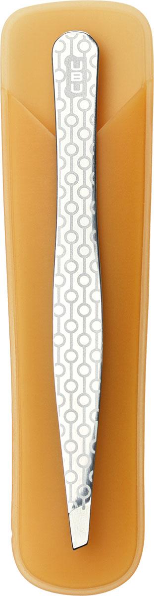 UBU Пинцет для бровей со скошенными кончиками. 19-500019-5000Ничто так не украшает, как выразительная четкая линия бровей. Профессионально ухоженные и аккуратно откорректированные брови, той формы, которую ты предпочитаешь. Соблазнительный изгиб придаст яркости и уникальности образу. Инструмент выполнен из 100% нержавеющей стали с ручной заточкой оформлен в индивидуальную яркую упаковку.Товар сертифицирован.