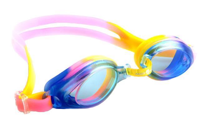 Очки для плавания MadWave Junior Aqua, цвет: фиолетовый, розовый поло madwave madwave ma991ewuyz79