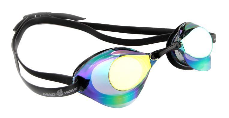 Очки для плавания стартовые MadWave Turbo Racer II Rainbow, цвет: фиолетовый очки для плавания madwave simpler ii цвет красный