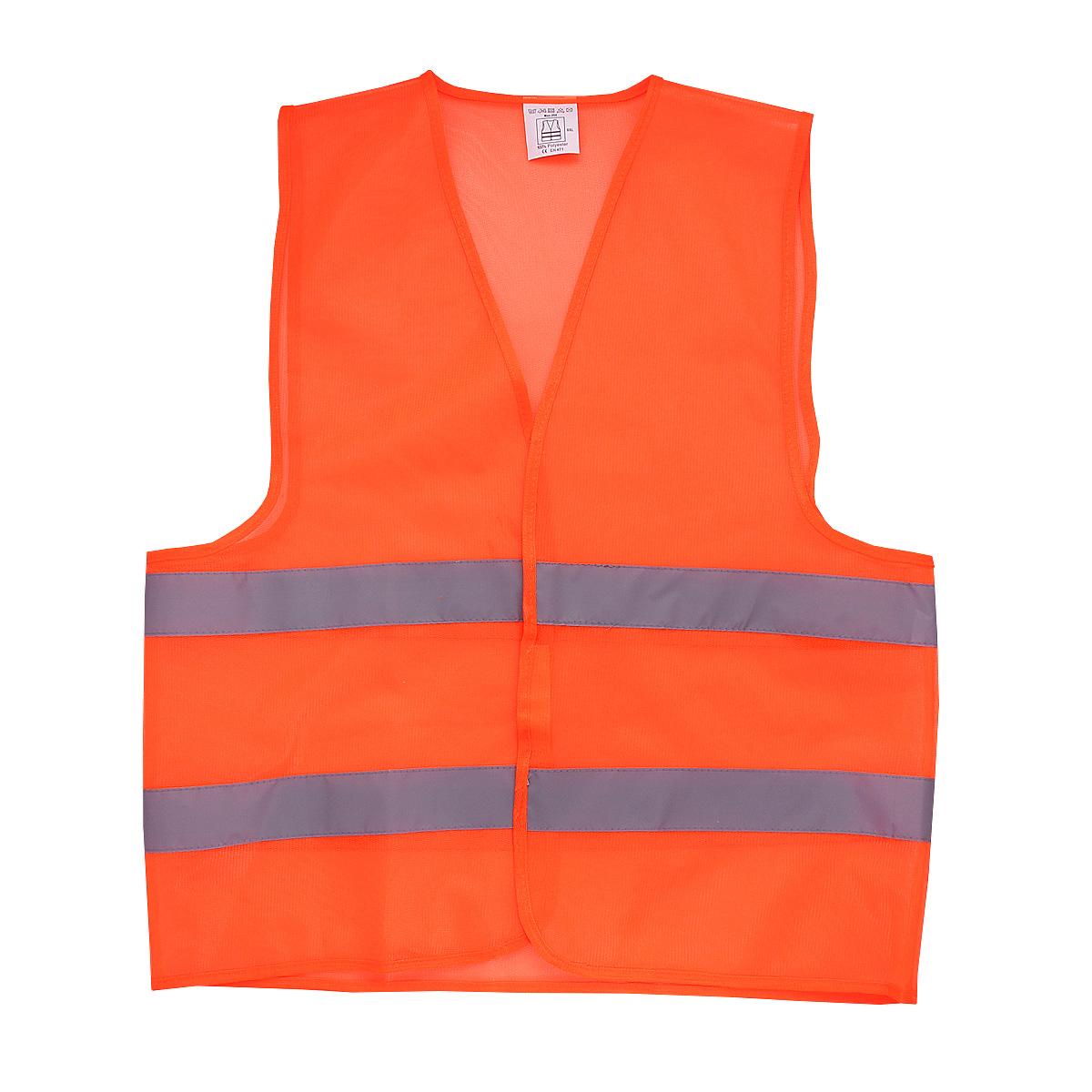 Жилет сигнальный FIT Сеточка, цвет: оранжевый, XXL12140Жилет с двумя горизонтальными световозвращающими полосами. Из сетчатой ткани, пропускающей воздух. Используется для улучшения видимости при работе в темное время суток. Во время дорожных, строительных работ, во время ремонта машины на дороге, при работе рядом с транспортом. Материал: 100% полиэстер. Размер: XXL.