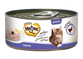 """Консервы для котят """"Мнямс"""", с курицей, 70 г"""