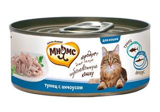 Консервы для кошек Мнямс, с тунцом и анчоусами, 70 г купить болгарские консервы в москве